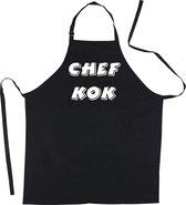 Mijncadeautje Schort CHEF KOK - Mooie - grappige - leuke Keukenschort - Zwart