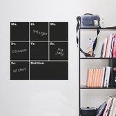 Krijtbordsticker 'Weekplanner vierkant'