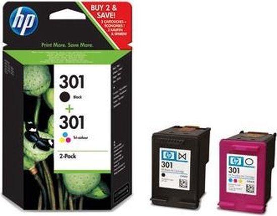 HP 301 - Inktcartridges / Zwart / Kleur / Dual-Pack - HP