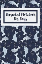 Narwhal Notebook For Boys