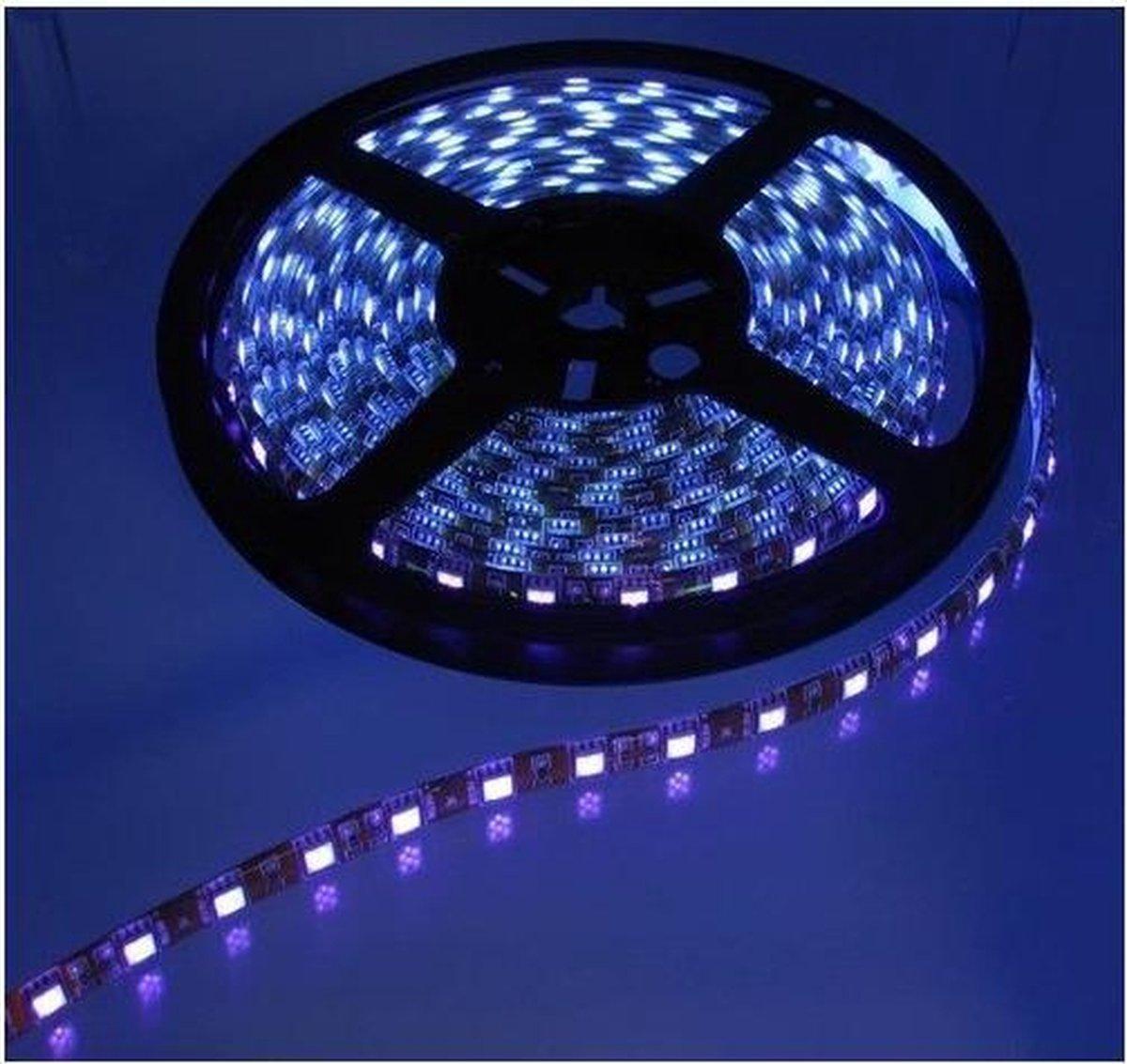 1 Meter - UV Ultraviolet 12V LED Strip 60LED IP65 SMD5050