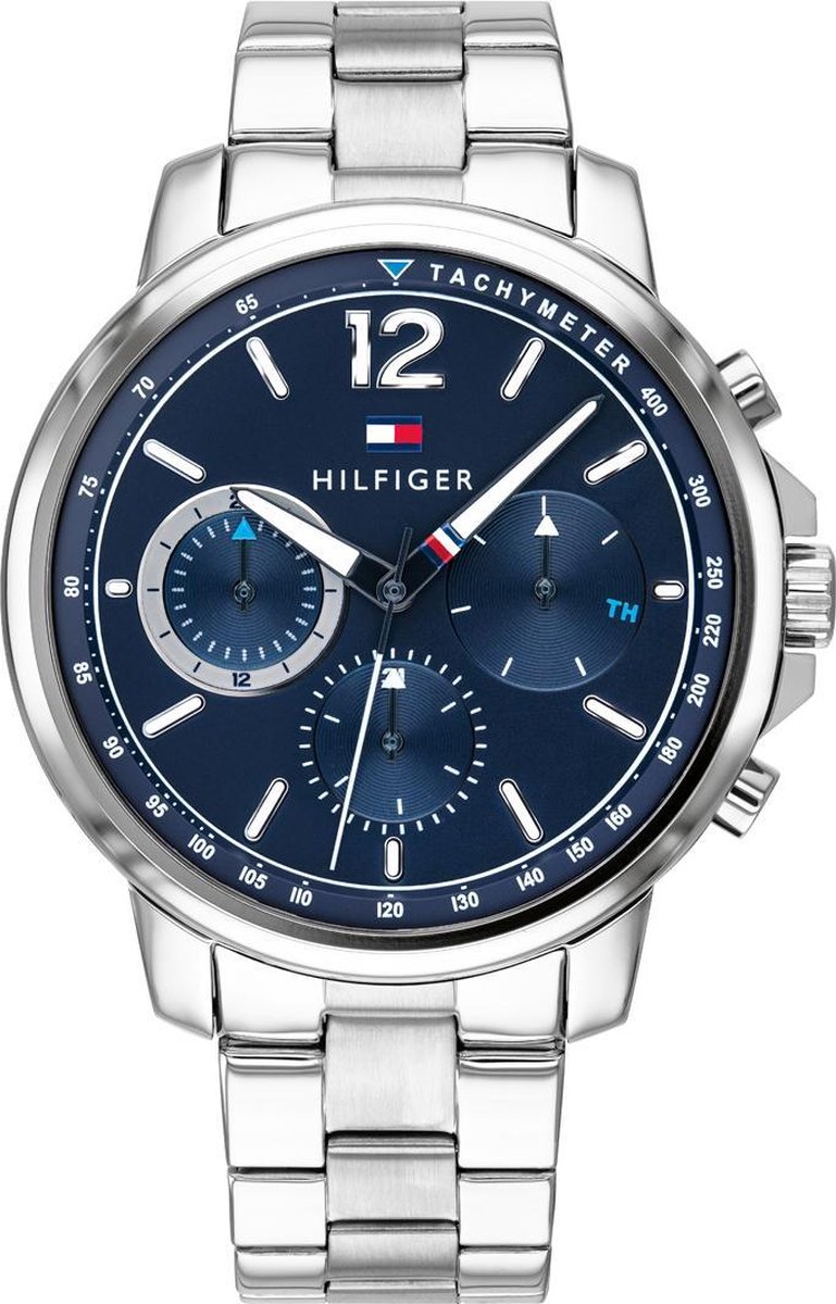 Tommy Hilfiger TH1791534 Horloge - Staal - Zilverkleurig - Ø 44 mm - Tommy Hilfiger