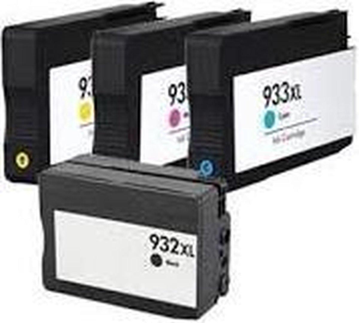 Merkloos – Inktcartridge / Alternatief voor de HP 932XL / 933XL - Inktcartridge - ActiveJet
