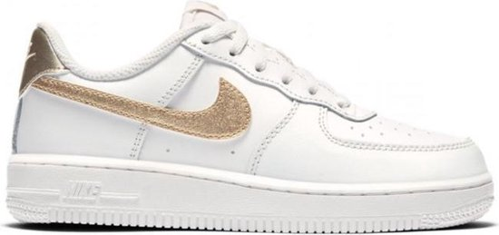 Nike Air Force 1 PS - Wit goud - Meisjes - 33