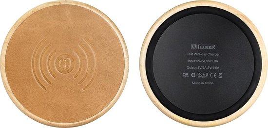 iCarer - Compacte Draadloze Qi Oplader - Khaki - ICarer