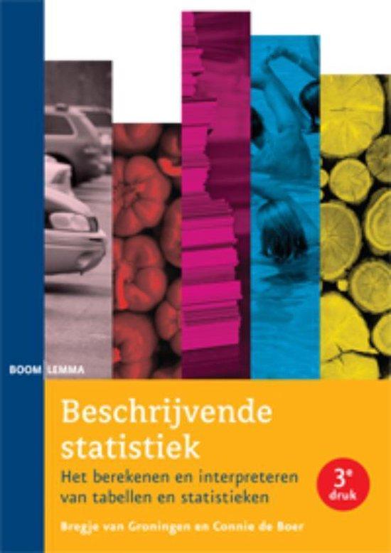 Beschrijvende statistiek - Bregje van Groningen  