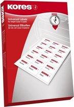 Etiket Kores ILK 99,1x57mm ronde hoeken, doos a 100 vel 10 Etiketten per vel