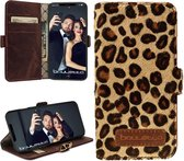 Bouletta Lederen Apple iPhone X / Xs Hoesje - BookCase - Leopard