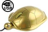 Schildpadstijl USB 3D optische muis (Golden)