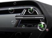ProCar - Auto luchtverfrisser - 5 verschillende geuren - Navulling - Zwart - | Zorgt voor een frisse geur in iedere auto | Auto verfrisser - Trendy design - Ventilatierooster monteerbaar - Hervulbaar - Auto Luchtje - Geurverfrisser
