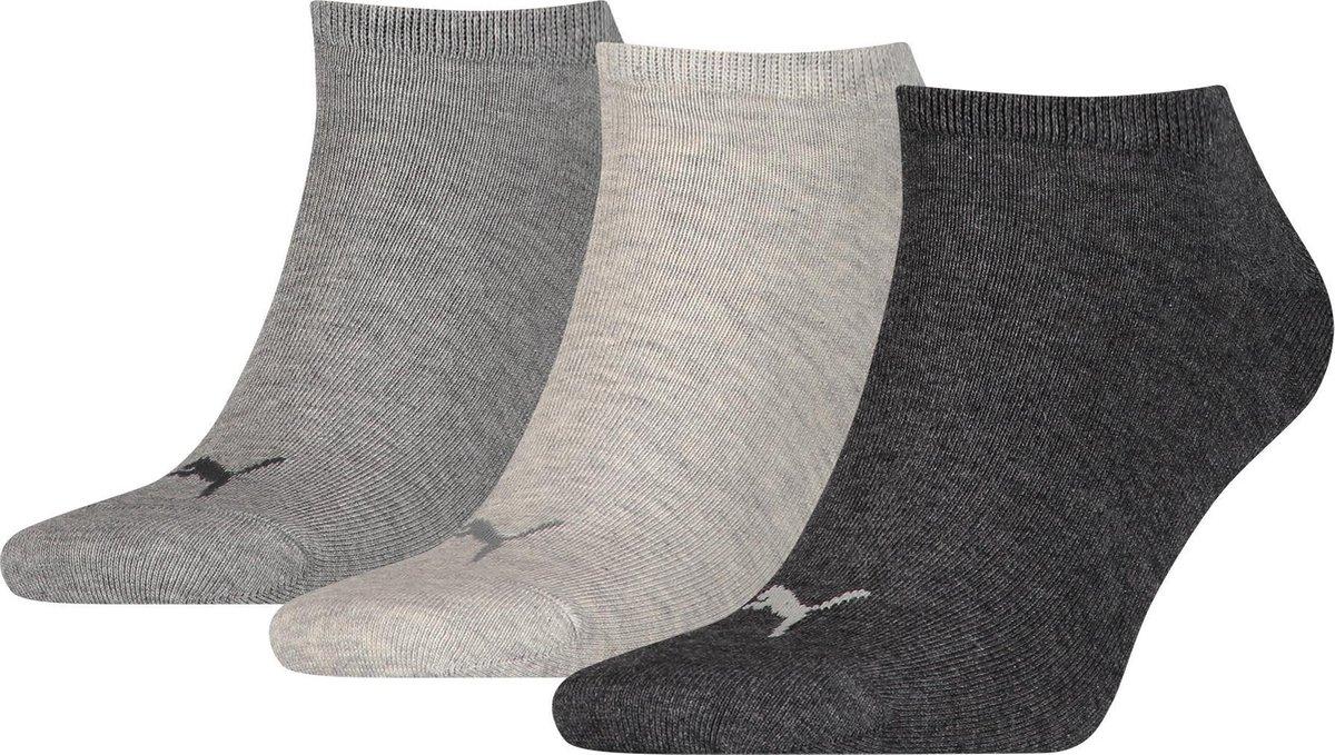 Puma Plain Sneakersokken Unisex 3P - Maat 43-46