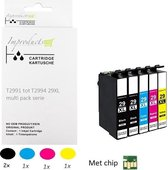 Improducts® Inkt cartridges Alternatief Epson 29XL 29 T29 multi pack + zwart