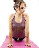 Yoga top - Flower of life - Aubergine - Maat S