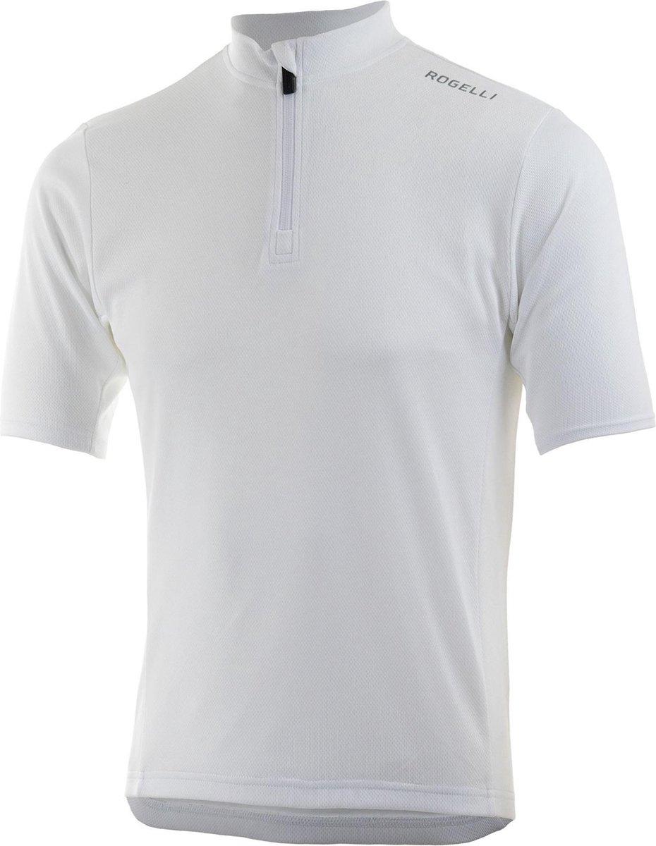 Rogelli Base Fietsshirt Heren - Wit - Maat L