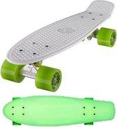"""Ridge Retro board 22"""" Glow with green wheels"""