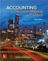 Boek cover Accounting for Decision Making and Control 9e ed van Jerold L. Zimmerman (Paperback)