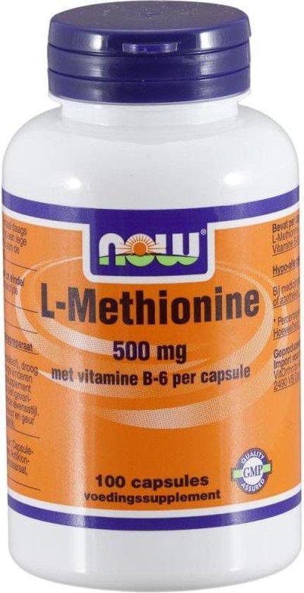 Now L-Methionine 500 mg Capsules 100 st