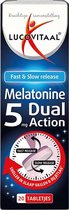 Lucovitaal Melatonine 5 mg Dual Action Voedingssupplement - 20 tabletten