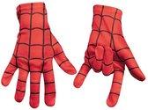 Spider Spinnenheld super man spider handschoenen kind bij verkleedpak kostuum verkleedkleding