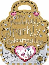 Remarkably Sparkly Shaped Colouring and Sticker Book