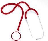 Karl-Hanz Verpleegster Stethoscoop met Dubbel Borststuk - Rood