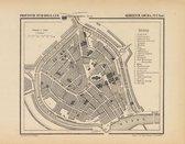 Historische kaart, plattegrond van gemeente Gouda-stad in Zuid Holland uit 1867 door Kuyper van Kaartcadeau.com