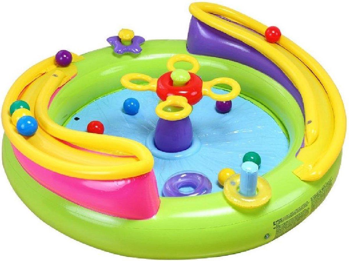 Intex Ball Toyz - Opblaasbaar Speelcentrum - Ballen Rol Baan - Ballenbad