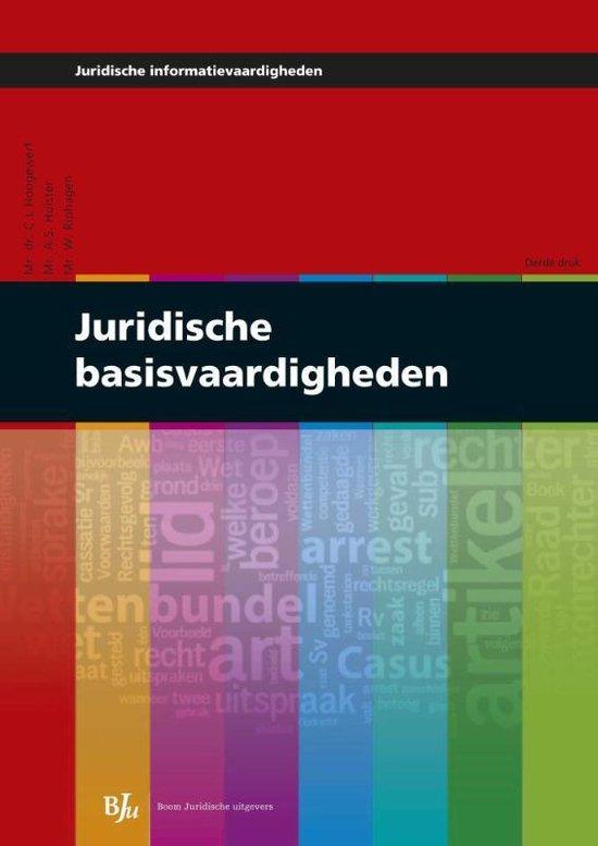 Juridische basisvaardigheden - C.L. Hoogewerf |