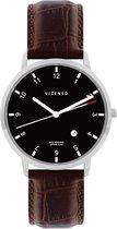 Vicenso Rome VI10018 Zilver Zwart/Bruin