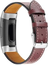 YONO Fitbit Charge 4 bandje – Charge 3 – Leer – Donkerbruin