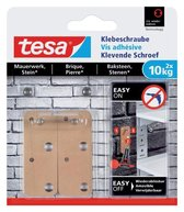 Tesa Klevende schroef - Voor steen en baksteen - belastbaar tot 10 kg - 2 stuks
