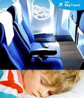 SkyTravel Vliegtuigbedje - 3 hoogtestanden - Reiskussen - Slapen in het vliegtuig - Kinderbedje - Voetensteun - Opblaasbaar - Grijs - KLM Approved