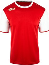 Robey Shirt Icon - Voetbalshirt - Red/White Sleeve - Maat S