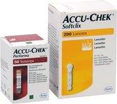 Accu-Chek Performa teststrips + Softclix lancetten