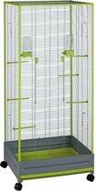 Voltrega Voliere 420 - Vogelkooi - Grijs/Groen - 65 x 54 x 150 cm