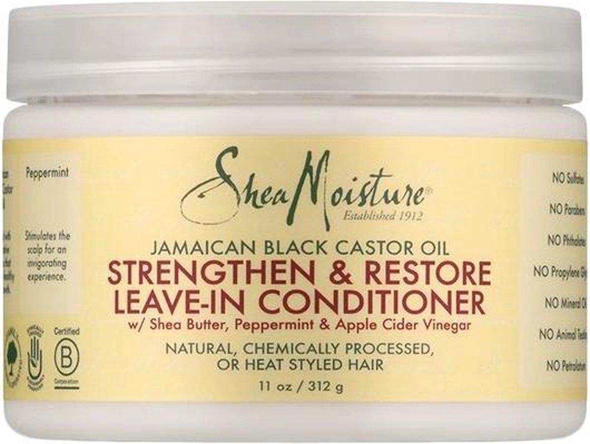 Shea Moisture Jamaican Black Castor Oil Strengthen & Restore Leave-in Conditioner 312 gr - Shea Moisture