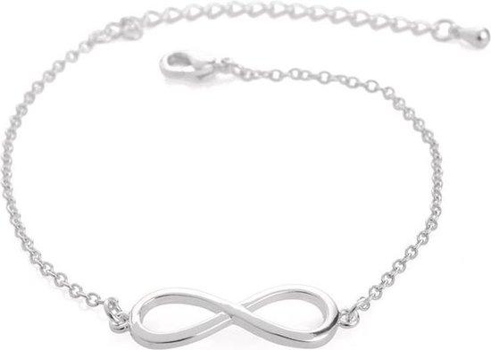 Infinity eindeloos oneindig subtiele armband - Dames - Zilverkleurig - 16 cm