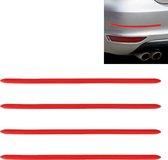 4 STKS Auto-Styling Willekeurige Decoratieve Sticker (Rood)