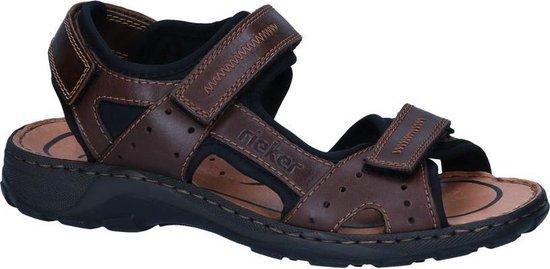Rieker -Heren -  bruin donker - sandaal - maat 44