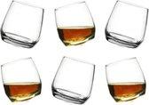 Sagaform set van 6 schuine whiskey - water glazen