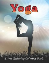 Yoga Stress Relieving Coloring Book