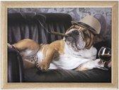 Schootkussen/laptray grappige Engelse bulldog honden print 43 x 33 cm - Schoottafel - Dienblad voor op schoot - Buldog
