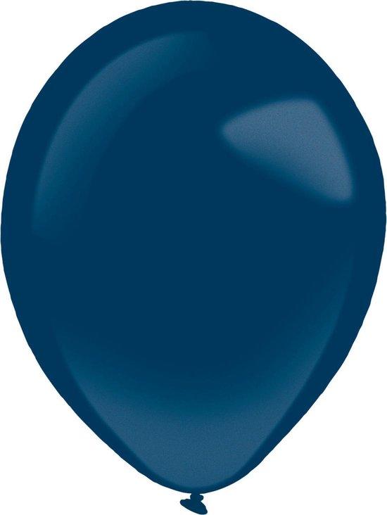 Amscan Ballonnen Metallic 28 Cm Latex Donkerblauw 50 Stuks