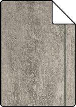 ESTAhome A4 staal van behang houten planken grijs - 137748 - 21 x 26 cm
