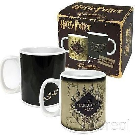 Harry Potter Mok - Marauders Map Heat Changing - 400 ml