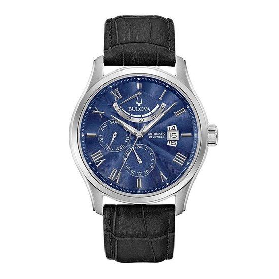 BULOVA 96C142 - Horloge - Leer - Zwart - 42 mm