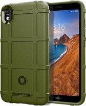 Schokbestendige beschermhoes Volledige dekking Siliconen hoesje voor Xiaomi Redmi 7A (groen)