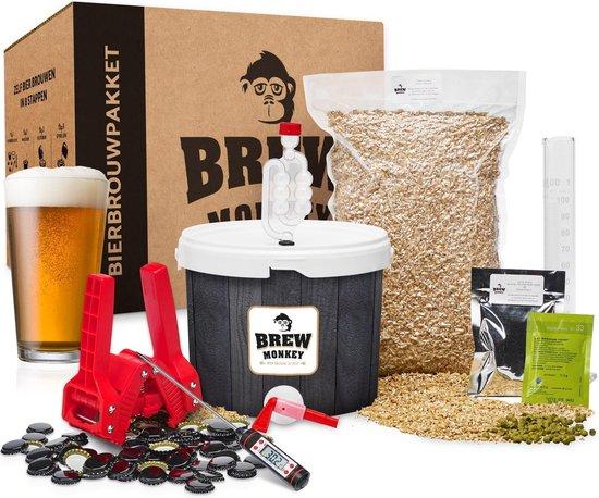 Brew Monkey Bierbrouwpakket - Compleet IPA bier - Zelf bier brouwen - Bier brouwen startpakket  - Origineel verjaardagscadeau
