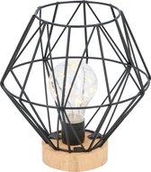 Grundig sfeerlamp - 12 LED's - Ø17,5 x 18 cm - hout/ metaal