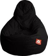 Whoober Peervorm Zitzak Barça outdoor zwart - Wasbaar - Geschikt voor buiten